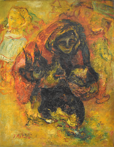 Issachar Ber RYBACK - Pittura - Chicken Seller