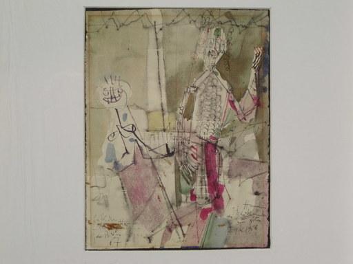 Hubert BERKE - Dibujo Acuarela - Fröhliche Marionetten