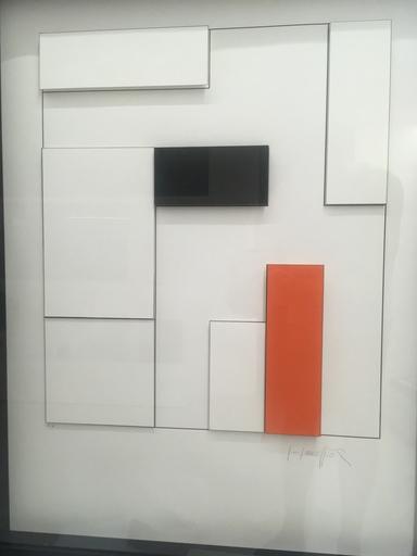 Gottfried HONEGGER - Print-Multiple - Composition concrète en orange