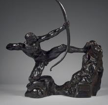 Émile Antoine BOURDELLE - Escultura - Héraklès Archer, huitième étude - modèle intermédiaire défin
