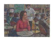 François GALL - Pintura - Mimi à Montparnasse