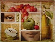 Philippe AUGÉ - Pintura - Hommage à La Joconde