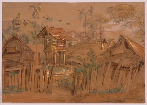 "Josef HOFFMANN - Dessin-Aquarelle - ""Study from World Tour 1893/94"", 1893"