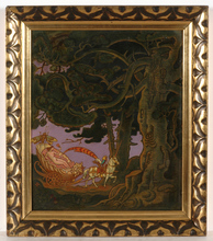 "Franz WACIK - Pintura - ""The Tale"" oil painting, ca. 1920"
