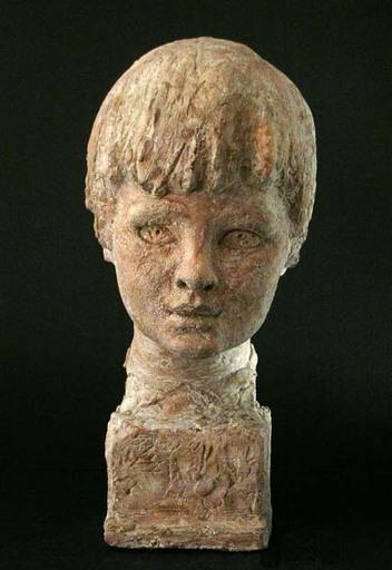 Bruno INNOCENTI - Sculpture-Volume - HEAD OF A YOUNG BOY