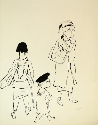 George GROSZ - Drawing-Watercolor - Passanten