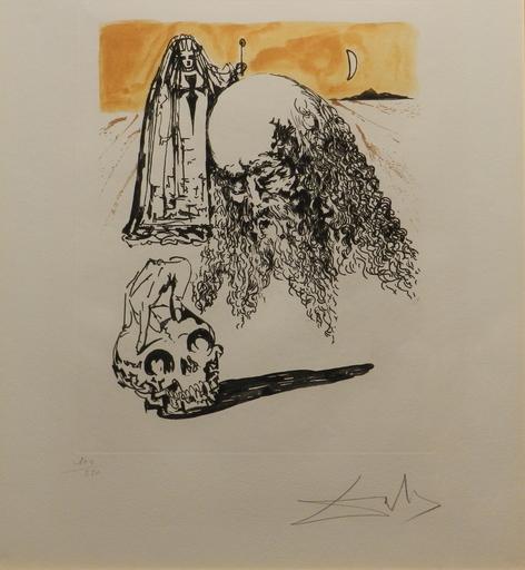 Salvador DALI - Stampa-Multiplo - La Vida ed Sueno Viellant Tete de Mort