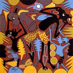 George LILANGA - Painting - Ngoja Nikudokezee siri ya