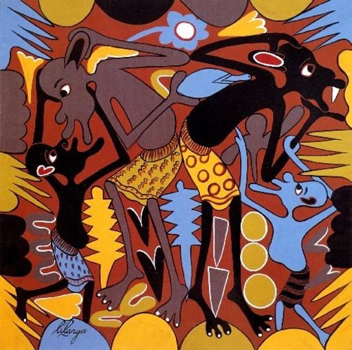 George LILANGA - Pintura - Ngoja Nikudokezee siri ya