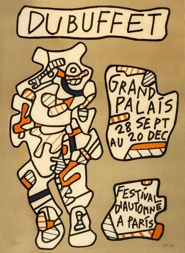 Jean DUBUFFET - Print-Multiple - Festival d'automme a Paris, 1973