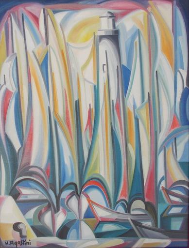 Hubert AGOSTINI - Pintura - Les voiliers