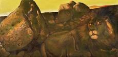 Ernst MAROW - Pintura - Der Löwe