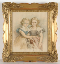 "Karl Josef Aloys AGRICOLA - Miniature - ""Children group portrait"" 1829, watercolor"