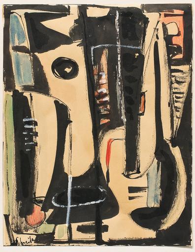 Gérard SCHNEIDER - 水彩作品 - Untitled