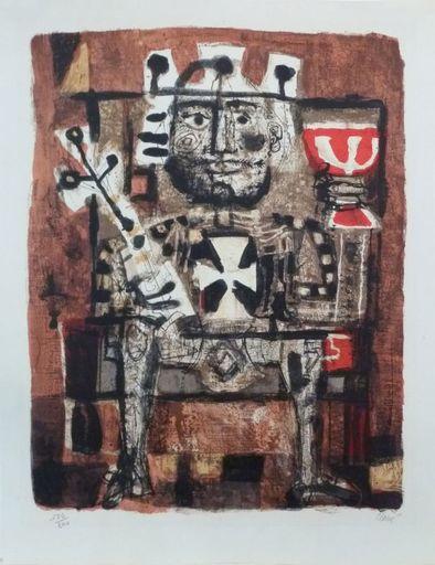 Antoni CLAVÉ - Print-Multiple - Le roi boit