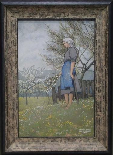 "Eduard STELLA - Dibujo Acuarela - ""Time of Blooming"" by Eduard Stella, Gouache"