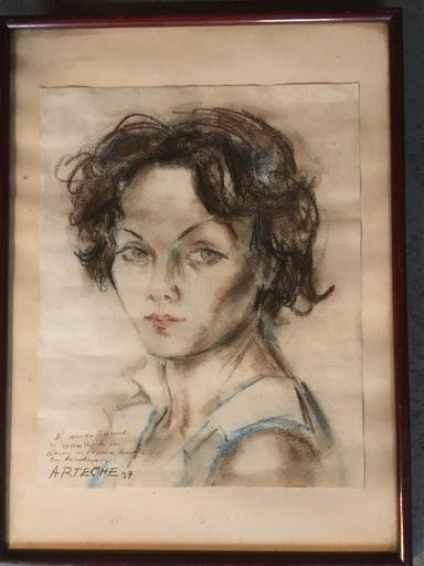 Cristobal ARTECHE - Drawing-Watercolor - Retrato