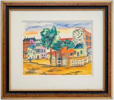 Élisée MACLET - Drawing-Watercolor - Montmartre