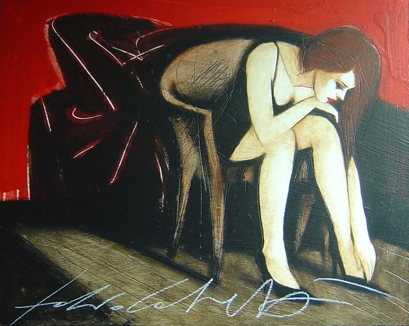 Fabio CALVETTI - Peinture - Lettere e parole