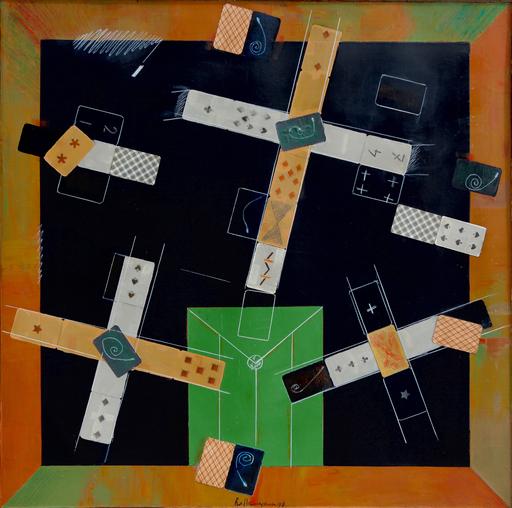 Vladimir Nikolaevich NEMUKHIN - Pittura - Black Card Table