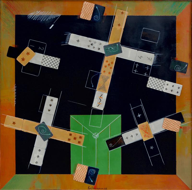 Vladimir Nikolaevich NEMUKHIN - Pintura - Black Card Table