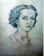 Mstislav Valerianovic DOBUZINSKIJ - Drawing-Watercolor - Portrait of a dancer Alexandra Danilova