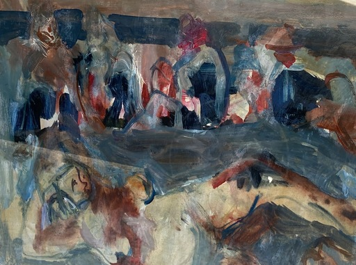 Bernard DAMIANO - Painting - La plage