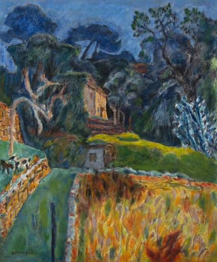 Pierre BONNARD - Painting - Paysage Méridional, l'enclos aux chèvres