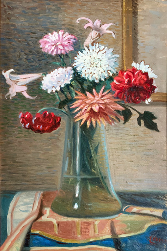 Eugenio CAPRINI - Pintura - Vaso di fiori
