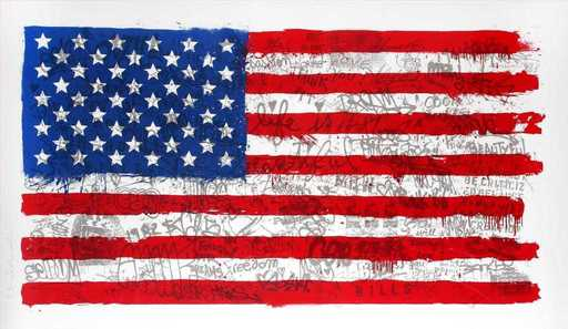 MR BRAINWASH - Grabado - American flag