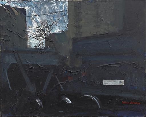 "Viktoria VOLOSHINA - Painting - Diptych ""Acceptance"" Part 2 industrial landscape depression"