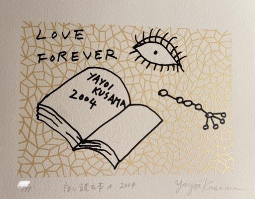 Yayoi KUSAMA - Estampe-Multiple - Book to Read at Night A