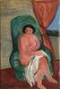 Yitzhak FRENKEL-FRENEL - Pintura - Paire de toiles : nu et femme à la couture