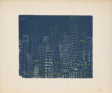 Paul VAN HOEYDONCK - Dibujo Acuarela - New York