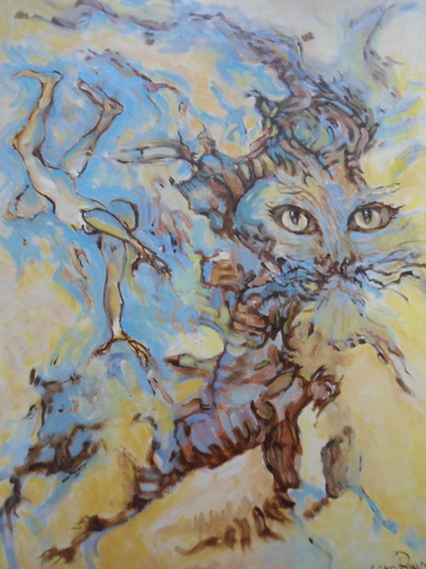 Ruben GROSMAN - Painting - Le chat.