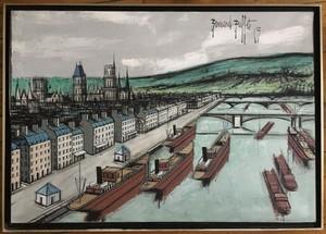 Elmyr DE HORY - Peinture - Homage to Bernard Buffet
