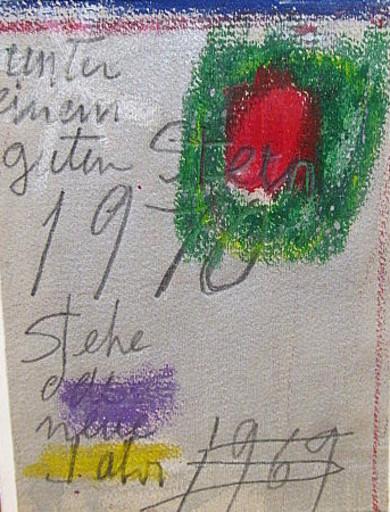 Arnold FIEDLER - Dibujo Acuarela - Neujahrsgruß 1970