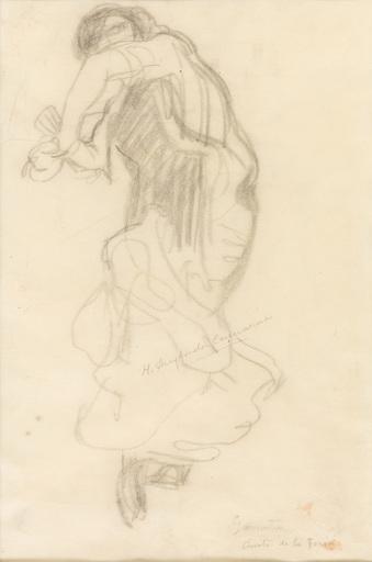 Hermenegildo ANGLADA CAMARASA - Drawing-Watercolor - Anita de la Feria bailando el garrotín