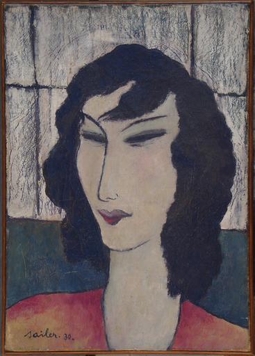Anton SAILER - Gemälde - Femme   - Damenporträt - München