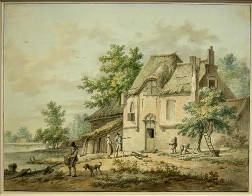 Pieter III Pietersz. BARBIERS - Drawing-Watercolor - Landscape with House