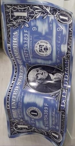 Karl LAGASSE - Escultura - Billet 1 Dollars