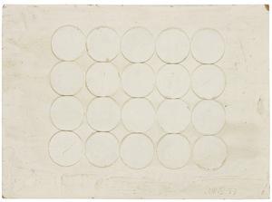 Herbert ZANGS - Pintura - Collage Bierdeckel auf Karton