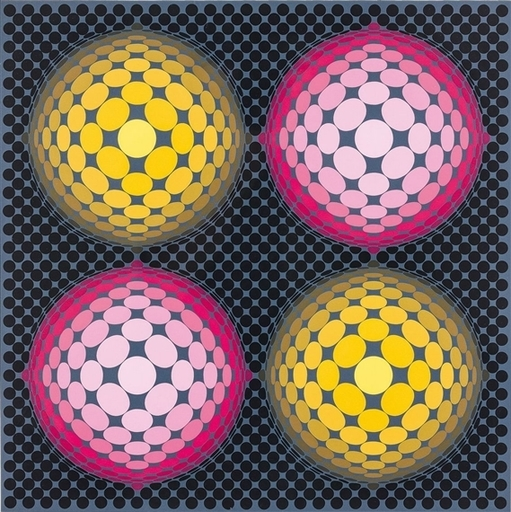 Victor VASARELY - Estampe-Multiple - Metagalaxie
