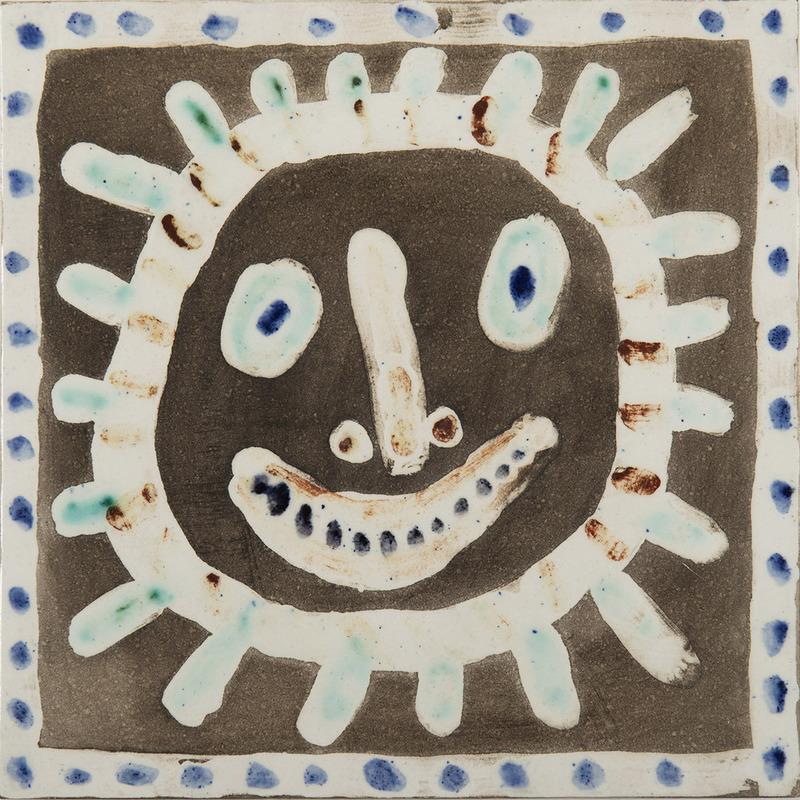 Pablo PICASSO - Ceramic - Visage soleil