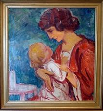 Hans CHRISTIANSEN - Pintura - Maternité