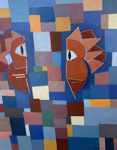 Marion ROBERT - Gemälde - Abstrait géométrique