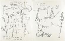 Jean-Michel BASQUIAT - Estampe-Multiple - Suite of Two Lifetime Prints