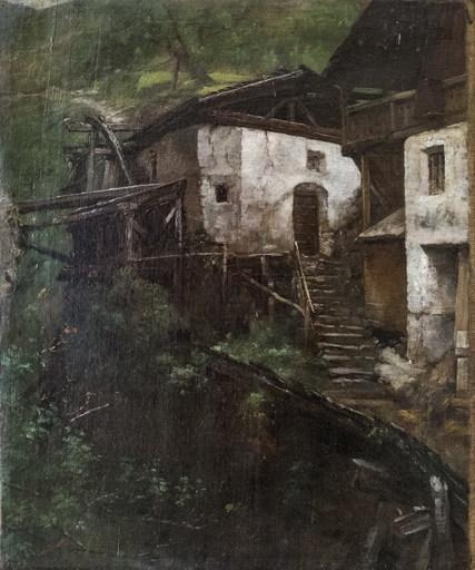 Carl Gustav HERRMANN - Gemälde - Landscape with old mill