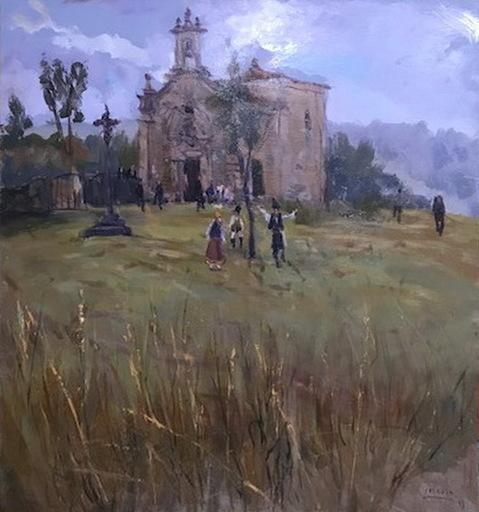 Víctor Manuel CORCOBA Y CONDE - Peinture - IGLESIA DE SAN ANTONIO DE BARRO