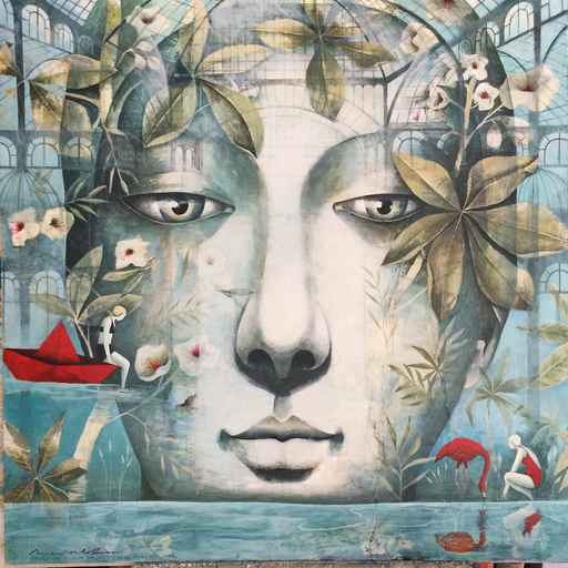 Menchu UROZ - Pintura - La Mar de Jardines II